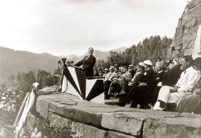 Roosevelt dedication of Great Smoky Mountains National Park. Image courtesy friendsofthesmokies.org.